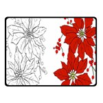 Poinsettia Flower Coloring Page Fleece Blanket (Small) 50 x40  Blanket Front