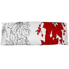 Poinsettia Flower Coloring Page Body Pillow Case (dakimakura) by Simbadda