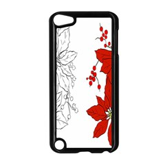 Poinsettia Flower Coloring Page Apple Ipod Touch 5 Case (black) by Simbadda