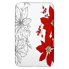 Poinsettia Flower Coloring Page Samsung Galaxy Tab 3 (8 ) T3100 Hardshell Case  by Simbadda