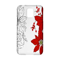 Poinsettia Flower Coloring Page Samsung Galaxy S5 Hardshell Case  by Simbadda