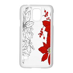 Poinsettia Flower Coloring Page Samsung Galaxy S5 Case (white)