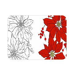 Poinsettia Flower Coloring Page Double Sided Flano Blanket (mini)  by Simbadda