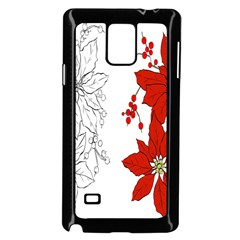 Poinsettia Flower Coloring Page Samsung Galaxy Note 4 Case (black)