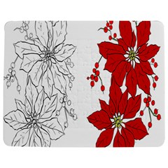 Poinsettia Flower Coloring Page Jigsaw Puzzle Photo Stand (rectangular)