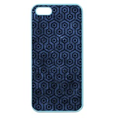 Hexagon1 Black Marble & Blue Stone (r) Apple Seamless Iphone 5 Case (color) by trendistuff