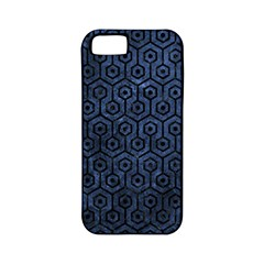 Hexagon1 Black Marble & Blue Stone (r) Apple Iphone 5 Classic Hardshell Case (pc+silicone) by trendistuff