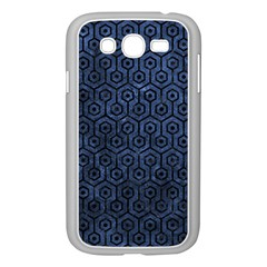 Hexagon1 Black Marble & Blue Stone (r) Samsung Galaxy Grand Duos I9082 Case (white) by trendistuff
