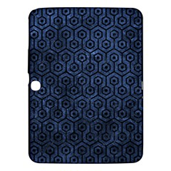 Hexagon1 Black Marble & Blue Stone (r) Samsung Galaxy Tab 3 (10 1 ) P5200 Hardshell Case  by trendistuff
