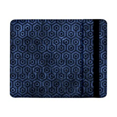 Hexagon1 Black Marble & Blue Stone (r) Samsung Galaxy Tab Pro 8 4  Flip Case by trendistuff