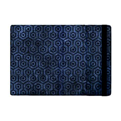 Hexagon1 Black Marble & Blue Stone (r) Apple Ipad Mini 2 Flip Case by trendistuff
