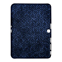 Hexagon1 Black Marble & Blue Stone (r) Samsung Galaxy Tab 4 (10 1 ) Hardshell Case  by trendistuff