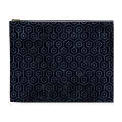 Hexagon1 Black Marble & Blue Stone Cosmetic Bag (xl) by trendistuff