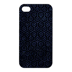 Hexagon1 Black Marble & Blue Stone Apple Iphone 4/4s Hardshell Case by trendistuff
