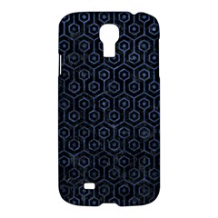 Hexagon1 Black Marble & Blue Stone Samsung Galaxy S4 I9500/i9505 Hardshell Case by trendistuff