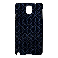 Hexagon1 Black Marble & Blue Stone Samsung Galaxy Note 3 N9005 Hardshell Case by trendistuff