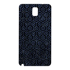 Hexagon1 Black Marble & Blue Stone Samsung Galaxy Note 3 N9005 Hardshell Back Case by trendistuff
