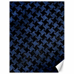 Houndstooth2 Black Marble & Blue Stone Canvas 12  X 16  by trendistuff
