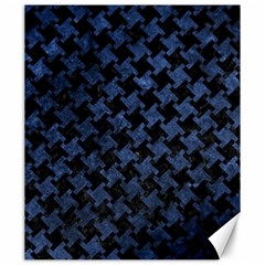 Houndstooth2 Black Marble & Blue Stone Canvas 20  X 24  by trendistuff