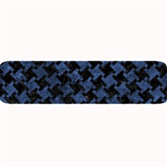 Houndstooth2 Black Marble & Blue Stone Large Bar Mat by trendistuff