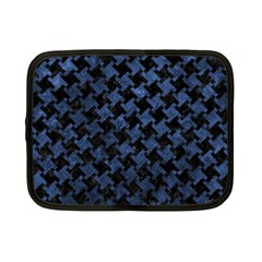 Houndstooth2 Black Marble & Blue Stone Netbook Case (small) by trendistuff