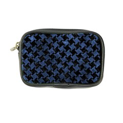 Houndstooth2 Black Marble & Blue Stone Coin Purse by trendistuff