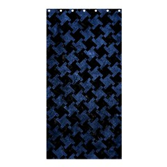 Houndstooth2 Black Marble & Blue Stone Shower Curtain 36  X 72  (stall) by trendistuff