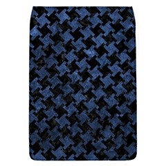 Houndstooth2 Black Marble & Blue Stone Removable Flap Cover (l) by trendistuff