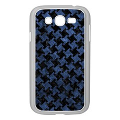 Houndstooth2 Black Marble & Blue Stone Samsung Galaxy Grand Duos I9082 Case (white) by trendistuff