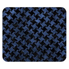 Houndstooth2 Black Marble & Blue Stone Double Sided Flano Blanket (small) by trendistuff