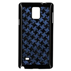 Houndstooth2 Black Marble & Blue Stone Samsung Galaxy Note 4 Case (black) by trendistuff
