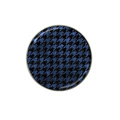 Houndstooth1 Black Marble & Blue Stone Hat Clip Ball Marker (10 Pack) by trendistuff