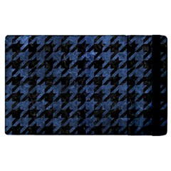 Houndstooth1 Black Marble & Blue Stone Apple Ipad 2 Flip Case by trendistuff