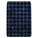 HOUNDSTOOTH1 BLACK MARBLE & BLUE STONE Removable Flap Cover (L) Front