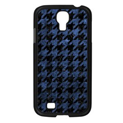 Houndstooth1 Black Marble & Blue Stone Samsung Galaxy S4 I9500/ I9505 Case (black) by trendistuff