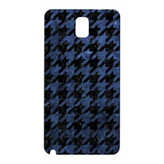Houndstooth1 Black Marble & Blue Stone Samsung Galaxy Note 3 N9005 Hardshell Back Case by trendistuff