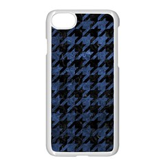 Houndstooth1 Black Marble & Blue Stone Apple Iphone 7 Seamless Case (white) by trendistuff
