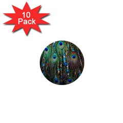 Peacock Jewelery 1  Mini Buttons (10 Pack)  by Simbadda