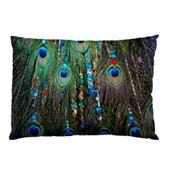 Peacock Jewelery Pillow Case (two Sides) by Simbadda