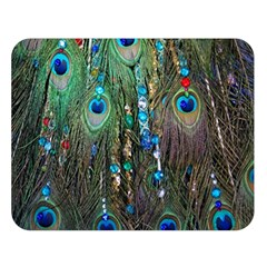 Peacock Jewelery Double Sided Flano Blanket (large)