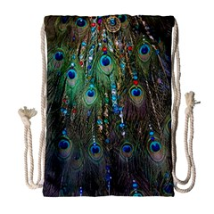 Peacock Jewelery Drawstring Bag (large) by Simbadda