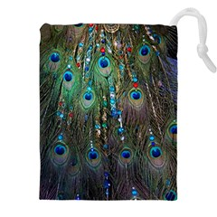 Peacock Jewelery Drawstring Pouches (xxl) by Simbadda