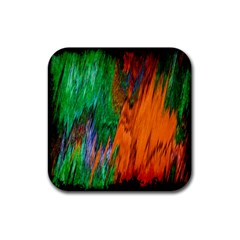 Watercolor Grunge Background Rubber Square Coaster (4 Pack)  by Simbadda