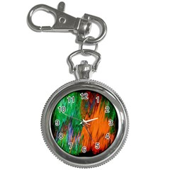 Watercolor Grunge Background Key Chain Watches