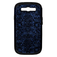 Damask2 Black Marble & Blue Stone (r) Samsung Galaxy S Iii Hardshell Case (pc+silicone) by trendistuff