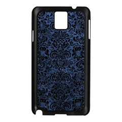 Damask2 Black Marble & Blue Stone (r) Samsung Galaxy Note 3 N9005 Case (black) by trendistuff