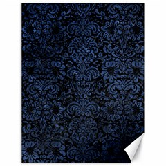 Damask2 Black Marble & Blue Stone Canvas 18  X 24  by trendistuff