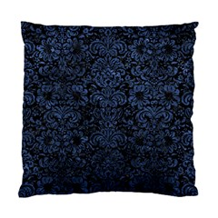 Damask2 Black Marble & Blue Stone Standard Cushion Case (one Side) by trendistuff