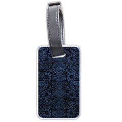 Damask2 Black Marble & Blue Stone Luggage Tag (one Side) by trendistuff