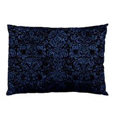 Damask2 Black Marble & Blue Stone Pillow Case (two Sides) by trendistuff